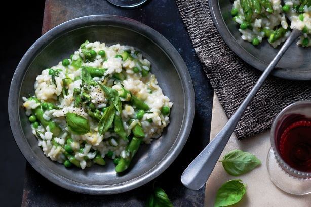 Risotto with Baby Peas and Asparagus